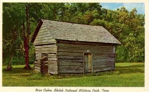 TN - Pittsburg Landing. Shiloh National Military Park, War Cabin