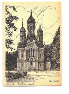 Signed Sketch, Kapelle, Wiesbaden, Germany