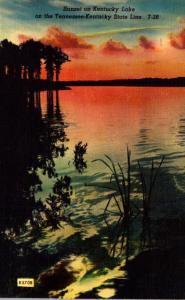 Tennessee Sunset On Kentucky Lake