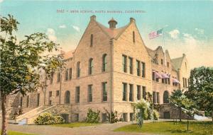 Santa Barbara California~High School in Spanish Revival Architecture c1910