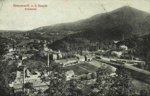 NEUSTADT an der Haardt, Schöntal, Panorama mit Bahnhof (1913) AK
