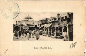 CPA AK Geiser 109 TUNIS Place Bab-Souika TUNISIA (705459)