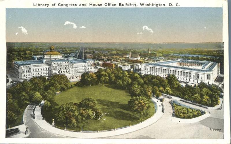 Library of Congress and House Office Building, Washington, DC - WB