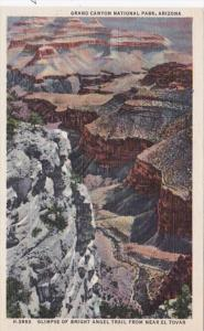 Arizona Grand Canyon Glimpse Of Bright Angel Trail From Near El Tovar Fred Ha...