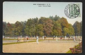 Lawn Tennis Platz Bad Homburg Hesse Germany used c1913