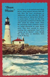 FIRST LIGHTHOUSE ERECTED BY USA . PORTLAND, MAINE SEE SCAN