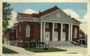 First Christian Church Mount Sterling KY 1940 Missing Stamp