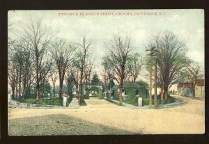Providence, Rhode Island/RI Postcard, Entrance To North Burial Ground