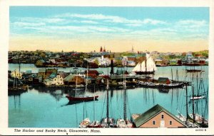 Massachusetts Gloucester The Harbor and Rocky Neck Curteich