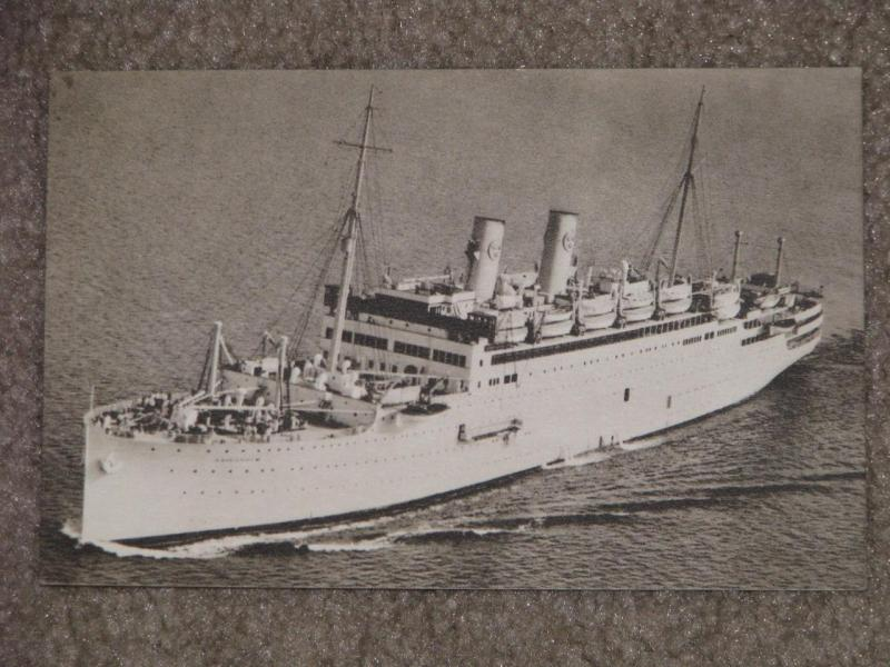 M.S. Gripsholm-Swedish American Line-Posted on the High Seas on Board