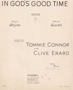 In Gods Good Time Tommie Connor Clive Erard Olde Sheet Music
