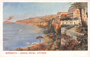 Grand Hotel Vittoria, Sorrento, Italy, Early Postcard, Unused