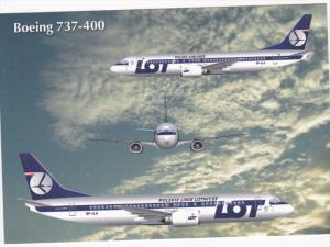 Polskie Linie Lotnicze [LOT] Boeing 737-400 Jet Airplane , 80-90s
