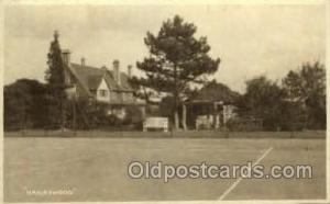 Haileywood Tennis, Old Vintage Antique, Post Card Postcard  Haileywood