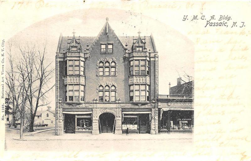 Passaic NJ YMCA And Furniture Store Postcard