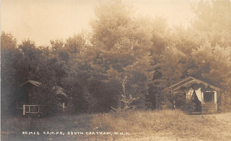 South Chatham New Hampshire~Bemis Camps Cabins~Carroll County~c1920 RPPC