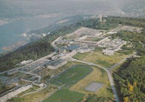 Aerial View of Simon Fraser University, Burnaby, British Columbia, Canada, 50...