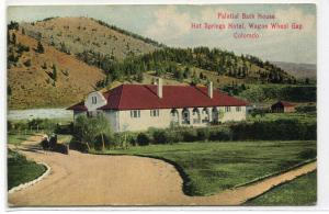 Bath House Hot Springs Hotel Wagon Wheel Gap Colorado 1911 postcard