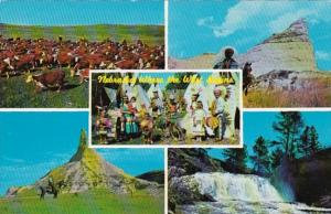 Greetings From Nebraska Where The West Begins Ogallala Sioux Indian Village &...