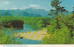 New Hampshire Conway Mount Washington From Saco River