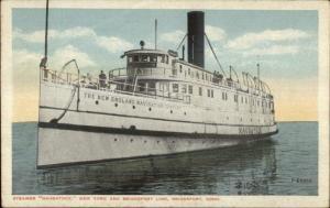 Bridgeport CT Steamer Naugatuck 1917 Used Postcard