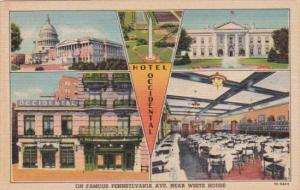 Hotel Occidental Pennsylvania Avenue Multi View Washington DC Curteich