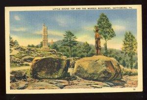 Gettysburg, Pennsylvania/PA Postcard, Little Round Top & Warren Monument