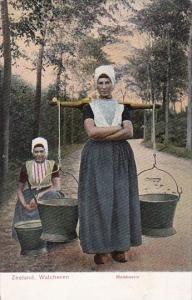 Netherlands Zeeland Walcheren Melboerin Milk Delivery Woman