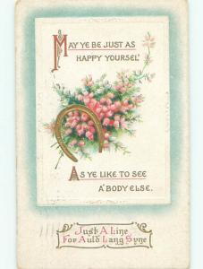 Divided-Back NEW YEAR SCENE Great Postcard AA2095