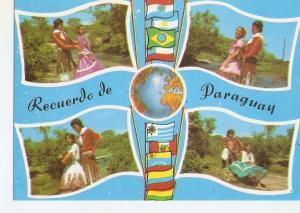 Postal 029377 : Parejas tipicas Paraguay