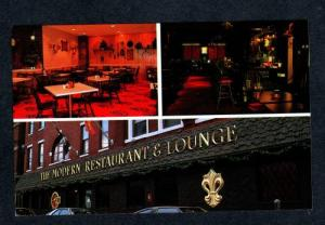 NH Modern Restaurant & Lounge Pearl St Nashua New Hampshire Postcard PC