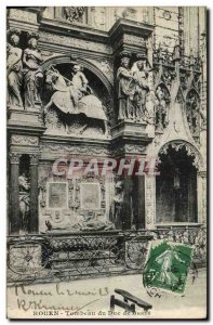 Old Postcard Rouen Tomb of the Duke of Breze