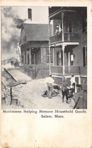 Salem Massachusetts~Great Fire of 1914~Militiamen Remove Household Goods~1914 PC