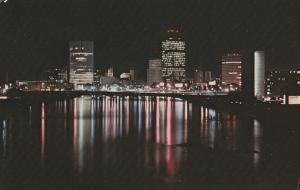 Night View of Rochester, New York - across the Genesee River