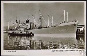 Royal Dutch Lloyd, Steamer S.S. Limburg (1940s) RPPC
