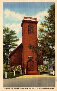 Iowa Little Brown Church In The Vale Near Nashua Curteich