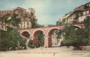 monaco, Le Pont, Êglise Sainte-Dévote (1910s) Postcard