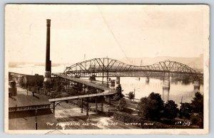 Winona Minnesota~Ramp to Mississippi High Bridge~Ward? Brothers Co~c1925 RPPC