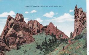 Montana Wall Of Sculptored Rock Montana Canyon