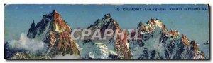 Old Postcard Chamonix Needles the Fiegere Views
