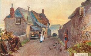 Artist impression C-1910 Loverack Cornwall UK Postcard 12559