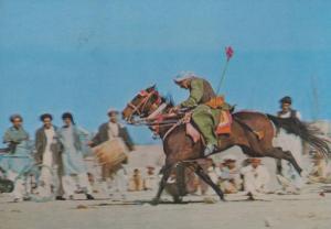 Afghanastan Cutting Off Goats Head Message 1970s Postcard