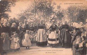 Les Jeuness femmes portent la statue de Sainte Anne Belgium Unused