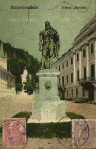 romania, BĂILE HERCULANE, Statuea Hercules (1922) Postcard