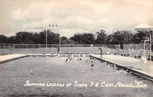 Madrid Iowa 4H Camp Swimming Lessons Antique Postcard K81336