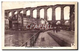 Old Postcard Morlaix Quays and the Viaduct