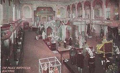 Palace Panopticum Bank Royal Gallery Blackpool Rare Antique Postcard