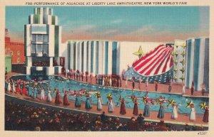 NEW YORK CITY, New York, 1930's; Performance Of Aquacade At Liberty Lake Amph...