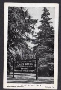 PA Torrey Lodge MONTROSE Bible Conf. PENN Postcard Pennsylvania