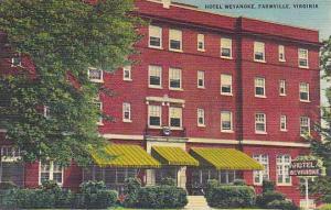 Exterior, Hotel Weyanoke, Farmville, Virginia,  30-40